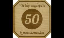 Bierdeckel aus Holz - Brünn