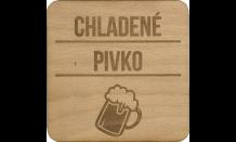 Bierdeckel aus Holz - Pilsen