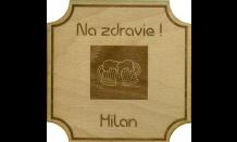 Bierdeckel aus Holz - Wien