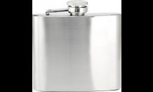 Flachmann aus rostfreiem Edelstahl mit Wunschgravur 120 ml