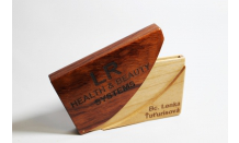 Holzgravur - Etui für Visitenkarten 026521