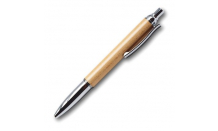 Kugelschreiber aus Holz (Ahorn) mit Silbermechanik  026662