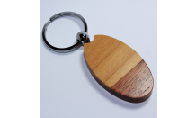 Holzanhänger (Palisander/Ahorn) - oval mit Wunschgravur 026770