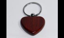 Holzanhänger (Palisander) - Herz mit Wunschgravur 026665
